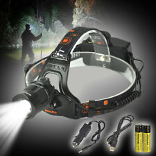 BORUiT 13000LM XM-L2 LED Headlamp Zoom Camping Headlight Head Torch Flashlight