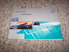 2001 Audi S4 Sedan Quattro Factory Original Owner's Owners User Manual Book