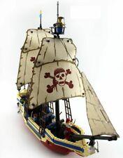 Pirate Caribbean Ship c/w Boat & Figures Building Block Construction Kit 487pcs