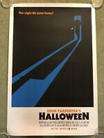 Halloween Print HAND SIGNED Artist Damon Bowie COA Left handed MICHAEL MYERS