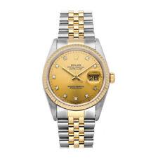 Rolex Datejust Auto 36mm Steel Gold Diamonds Mens Jubilee Bracelet Watch 16233