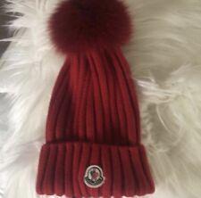 7b83128ecaf Moncler Genuine Fox Fur Pom Beanie Hat