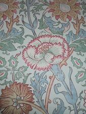 WILLIAM MORRIS CURTAIN FABRIC DESIGN   PINK AND ROSE   4 METRES DK3566