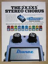 1982 Ibanez CS9 Stereo Chorus Guitar Effects Pedal vintage print Ad