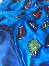 Football MicroFleece w/ Minky Backing 42X36 For Baby thru Child Sized Afghan