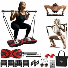 New listing Portable Home Gym Workout Equipment with 12 Exercise Accessories Including He...
