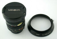 MINOLTA MD Zoom-Rokkor 4/24-50 24-50 24-50mm F4 4 hood caps TOP adapt. A7 EOS