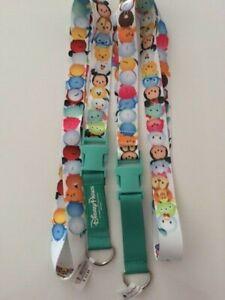 Disney Parks Tsum Tsum Characters Reversible Lanyard NEW