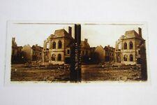 Guerre 14-18 WW1 - Superbe Photo stéréo plaque de verre 13 - Cormicy (Marne)