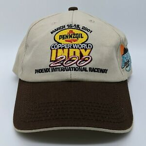 PENNZOIL 2001 Copper World Indy 200 Embroidered Logo Hat Snapback Cap K-Products