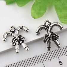 10Pcs Tibetan Silver Christmas crutches Pendants Charms 19*17mm 1A1821
