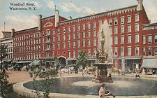 Woodruff Hotel in Watertown NY Postcard 1919