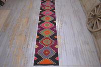 RUNNER KILIM RUG, Turkish Rug Flatweave Runner Vintage Wool Oushak Rug, 2.7x12.6