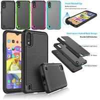 For Samsung Galaxy A01 Case Silicone Rubber Armor Defender Shockproof Slim Cover