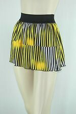 Poly Span Elastic Waist A-line Skater Mini Skirt Juniors MEDIUM S2012_25