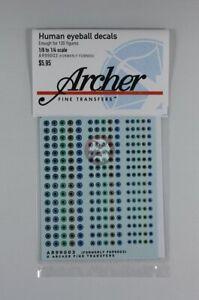 Archer (1/6 - 1/4) Human Eyeball Decals No.3 (5 Colors) (120 Figures) AR99003