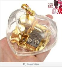 { ELFEN LIED - LILIUM }  HEART SHAPE WITH PINK RIBBON WIND UP MUSIC BOX