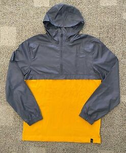 Under Armour Mens Lightweight Hoodie Wind Breaker Gray/Yellow Size Medium UM1250