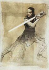 Star Wars Last Jedi Illustrated Chase Card SWI-1 Rey