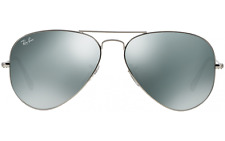 New Ray Ban Aviator RB3025 W3277  58mm Silver Frame Silver Mirror Lens