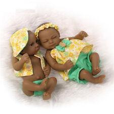 10'' African American Black Reborn Baby Dolls Silicone Ethnic Boy Girl Lifelike