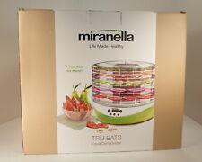 New Miranella Tru Eats Food Dehydrator Fruits Vegetables Meats w/ Jerky Season