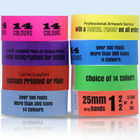 Plain & Custom Printed Tyvek Wristbands: 25mm - Parties & Identification