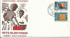 1972 Elections set of 2 FDC FDI Port Moresby 26.1.72 Unaddressed