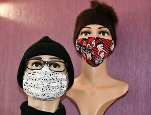 Betty Boop , Star Wars,Looney Tunes..Masque en tissu fait main à Personnaliser !