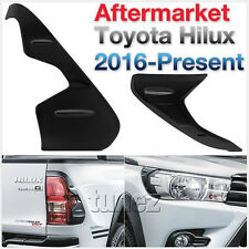 Front Tail Rear Light Lamp Cover For Toyota Hilux 2016 2017 2018 TRD Black Tunez