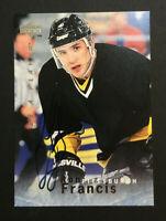 Ron Francis Penguins signed 1996 Upper Deck Be a Player card # S8 Auto Autograph
