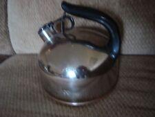 Vtg Copper Bottom PAUL REVERE Whistling Tea Kettle