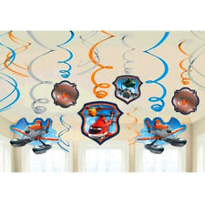 DISNEY PLANES HANGING SWIRL DECORATIONS (12) ~ Birthday Party Supplies Cutout