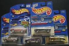 5 HOT WHEELS MUSTANG '65 455,SHELBY COBRA 427 S/C 240, '96 1058, 217, MACH 1 112