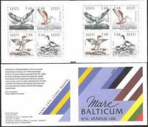 "ESTONIA (Estland) - 1992 MNH ""BIRDS"" BOOKLET 8 Stamps (2 Sets) !!!"