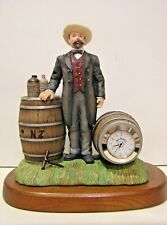 JACK DANIEL'S DISTILLERY CLOCK sculpture NEW in BOX with COA