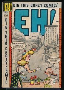 EH! No. 7 1954 Charlton Satire Comic Book Ottenheimer GGA Cover 2.0 GD vv
