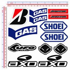 Adesivi moto sponsor sticker moto gas ufo shoei bridgestone axo print pvc 13 pz.