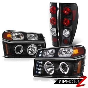 2004-2012 Chevy Colorado GMC Canyon [6PC] Halo LED Projector Headlight Tail Lamp