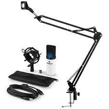 auna MIC-900WH-LED USB Mikrofonset V3 Kondensatormikrofon Mikrofonarm LED weiß