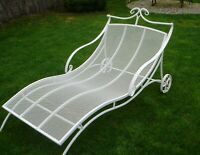 outdoor furniture chaise lounge chair Beach house Garden furniture Wrought iron