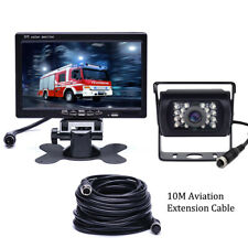 """4Pin Rear View Backup Camera Night Vision System + 7"""" Monitor For RV Truck Bus"""