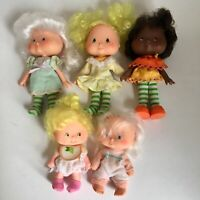 Vintage Strawberry Shortcake Dolls Lot 5 Dolls 2 Babies