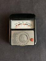 Vintage Gossen Sixtus Light Meter Model 243680 w/ Leather Case - Made in Germany