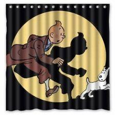 Tim und Struppi Magazin Comic Tintin Duschvorhang Badvorhang Film Modell 2