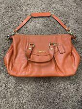COACH Ashley Burnt Orange Leather Satchel Handbag Shoulder Bag NEW $358