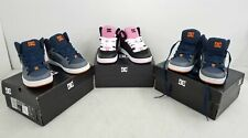 Lot of 3 DC Shoes Co Youth 1x Pink Black & 2x Gray Navy Blue Shoes Size 1 US IOB