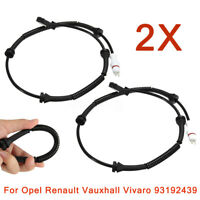 2x Front ABS Wheel Speed Sensor 93192439 For Vauxhall Opel Vivaro Renault Trafic