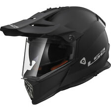 LS2 MX436 Pioneer Solid Matt Black Dual Sport Helmet Bike Adventure Off Road Lid