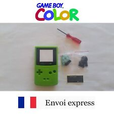 Coque GAME BOY COLOR Vert green NEUF NEW + tournevis triwing - étui shell case